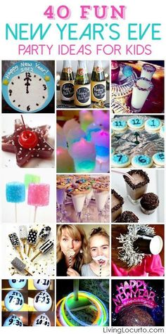 New Years Eve Party Ideas for Kids! Bringing in a new year is always a highlight in our house. It can be a wild fun time spent with family and friends or a quiet night at home snuggled up by a fire. We have done it both ways and had a fantastic time. Since our kids love celebrating with a party, here are some great party ideas to keep kids entertained while watching the count down and waiting for the ball to drop.