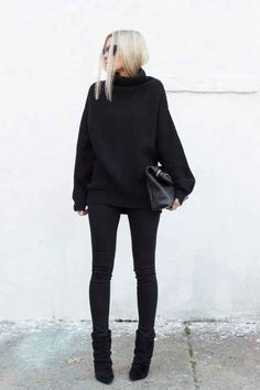No hay error con un suéter oversized.