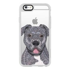 iPhone 6 Plus/6/5/5s/5c Case - Junior - Pitbull - Dog ($40) ❤ liked on Polyvore featuring iphone case