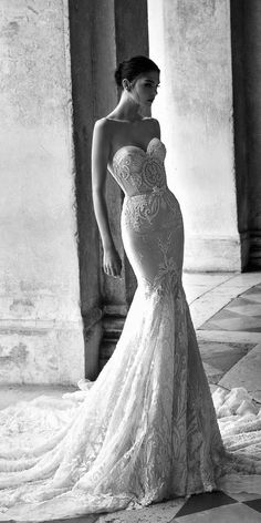 Inbal Dror Wedding Dress Collection ♥ We're starting off 2015 with a furious flurry of wedding dress fabulosity, bringing you yet another dose of droolworthy deliciousness! Today we fawn all over the smoking hot Inbal Dror Wedding Dresses from her 2015 Wedding Dresses, Wedding Attire, Bridal Dresses, Wedding Gowns, Wedding Blog, Wedding Ceremony, Inbal Dror Wedding Dress, Lace Wedding, Ceremony Dresses
