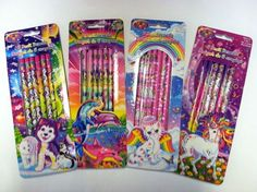 Lisa Frank Cat Dolphin Unicorn Husky Pencil Packs New | eBay