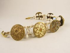 Button Jewels — Ivory Medley Bracelet