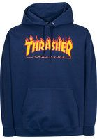 Thrasher - Flame - navy - Sweats à capuche