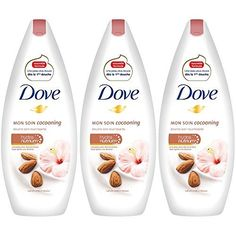 Dove Gel Douche Amande Et Hibiscus 400ml – Lot de 3: Nouvelle formule inédite Une peau plus douce dès la première douche Contient de…