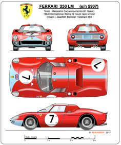 First presented in Paris at the end of the Ferrari 250 LM is a berlinetta… Sports Car Racing, Sport Cars, Race Cars, Auto Racing, Vintage Racing, Vintage Cars, Jochen Rindt, Automobile, Le Mans 24