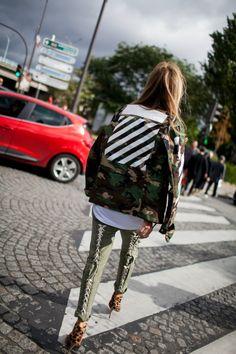 Street style at Paris Fashion Week Spring 2017