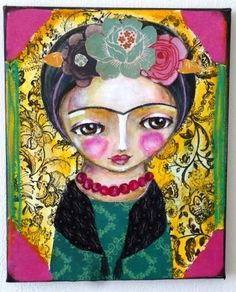 frida Kahlo original painting by Susana Tavares