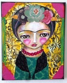 frida Kahlo original painting by Susana Tavares