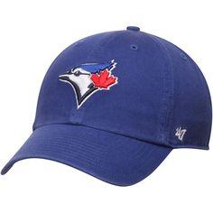98bfbdb010e Toronto Blue Jays  47 Brand Royal Basic Logo Clean Up Game Adjustable Dad  Hat