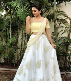 looks stunning in a lehenga at her besties wedding! Pakistani Outfits, Indian Outfits, Indian Clothes, Traditional Fashion, Traditional Outfits, Krystal Dsouza, Wedding Lehenga Designs, Indian Designer Wear, Indian Dresses