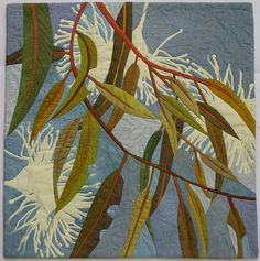 In My Portfolio: Gentle Breeze - Ruth de Vos : Textile Artist Australian Native Flowers, Australian Art, Hand Applique, Applique Quilts, Applique Ideas, Quilting Projects, Quilting Designs, Art Quilting, Quilt Art