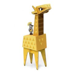 KROOOM 3D χάρτινη κατασκευή - Καμηλοπάρδαλη