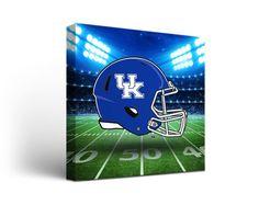 Kentucky Wildcats Canvas Wall Art Stadium Design (12x12)