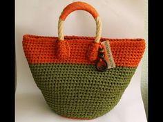 Bolsa Fio de Malha Max Crochê Salmão | Edi Art Crochê - YouTube