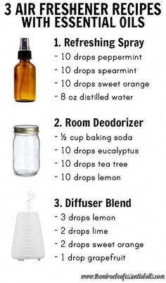 How to Make Homemade Perfumes With Essential Oils - 3 DIY Essential Oil Air Freshener Recipes Estás en el lugar correc - Essential Oils Room Spray, Essential Oil Perfume, Essential Oil Diffuser Blends, Doterra Essential Oils, Essential Oils Air Freshner, Uses For Essential Oils, Yl Oils, Room Deodorizer, Homemade Perfume