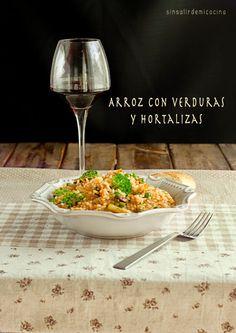 SIN SALIR DE MI COCINA: ARROZ CON VERDURAS Y HORTALIZAS- ARROZ VEGANO {Arroz vegetariano para Directas al Grano}