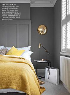 Grey And Mustard 60 Ideas Yellow Gray Bedroom Bedroom Inspirations Yellow Bedroom