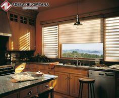 Nuestras cortinas #Pirouette le dan ese toque especial a cualquier espacio. ¡Mira como lucen de lindas en la cocina!