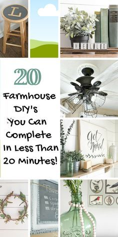 for quick Farmhouse DIY craft ideas you can make in 20 minutes or less? Tutorials for 20 farmhouse projects.Looking for quick Farmhouse DIY craft ideas you can make in 20 minutes or less? Tutorials for 20 farmhouse projects. Country Farmhouse Decor, Farmhouse Chic, Rustic Decor, Farmhouse Lighting, Farmhouse Ideas, Country Homes, Farmhouse Rules, Farmhouse Bathrooms, Primitive Bathrooms