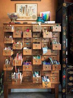 Ideas for craft storage ideas drawers sewing rooms Home Art Studios, Studios D'art, Art Studio At Home, Studio 60, Studio Spaces, Dream Studio, Studio Ideas, Art Storage, Craft Room Storage