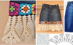 See how a used denim skirt, can be recycled. In addition, a bar with granny squares which gives it a vintage effect, it was used a  beautiful crochet pattern to the end basis. White edges in crochet,  give wheel to the … Read more... →