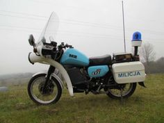 Polish Civic Militia MZ-motorcycle Polish Government, Retro, Police Uniforms, Go Kart, Cars And Motorcycles, Vintage Cars, Poland, Nostalgia, Bicycle