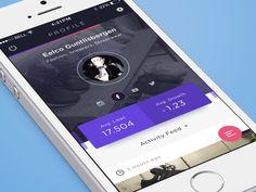 """via Muzli design inspiration. """"Mobile menu inspiration"""" is published by Muzli in Muzli - Design Inspiration. Web Mobile, Mobile App Ui, Mobile App Design, Motion App, Mobile Application Design, Digital Menu, Ui Animation, Ui Web, Web Design Inspiration"""