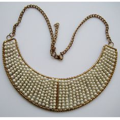 Pearl Statement Necklace/Bib Necklace/Beaded by FootSoles on Etsy