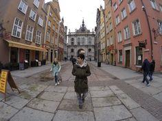 Walking down the old town in Gdansk