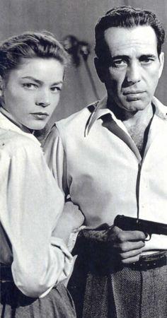 Humphrey Bogart with Lauren Bacall in Key Largo 1948