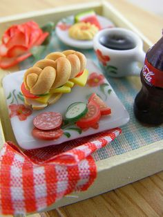 Yummy Minature Sandwich and Veggies for Lunch by Shay Aaron, via Flickr