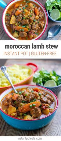 Instant Pot Moroccan Lamb Stew With Potatoes (Dairy-free, Gluten-Free)