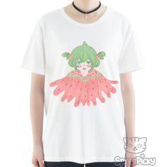 S-3XL [Anzujaamu Design] Kawaii Watermelon Girl Tee SP166434
