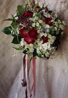 Romantic Winter Wedding Bouquet