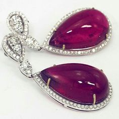 Vibes_jewelry Magnificent ruby and diamond earrings Most precious ruby stones in the world Perfect gift Unforgettable jewels