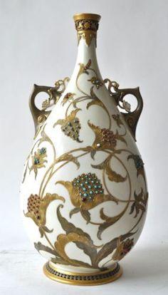 Royal Worcester - Islamic Style Jeweled Vase