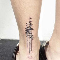 ankle back tree tattoo ayak bileği arkası ağaç dövmesi