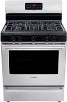 5.0 Cu. Ft. Capacity/ Two Racks And Five Different Rack Positions/ Continuous Grates/ Sealed Burners/ Self Clean Cycle/ Wide View Oven Window/ 500 BTU Simmer Burner/ Hidden Bake Element/ Stainless Steel Finish