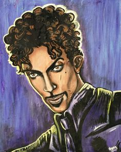 Prince, acrylic painting by Heather Bond.