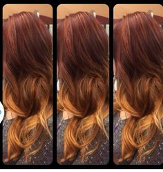 Red blonde ombre hair style