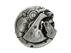 2 Steampunk Watch Pewter Metal Shank Buttons 1 inch by ButtonJones, $4.00