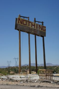 NOTHING - Somewhere between Vegas and Phoenix.