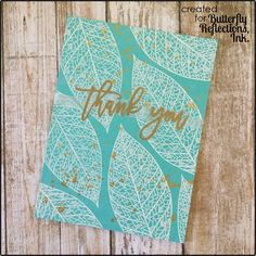 Hello, there! It's Lynnea back with a few more cards using the  Lace Leaf  stamp set from Concord & 9th. I love how versatile this set is! R...