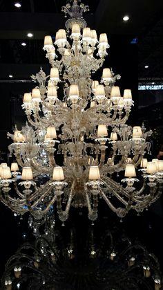Venetian glass chandelier at Maison&Objet January 2014