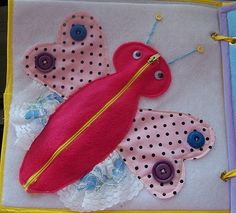 Fabric Activity Book - several ideas for pages to make. Great for travel and quiet time.