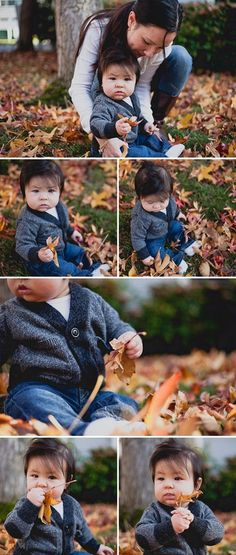 Fall Baby Photos - little sweater, cheeks, so much hair!