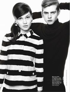 mod rules: lena lomkova and charlie mills by walter chin for uk glamour march 2013