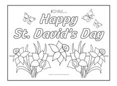 David's Day poster for children at iChild. We have lots of free St. Davids Day activities for children to celebrate the National day of Wales! St Dwynwens Day, Saint David's Day, Colouring Pages, Free Coloring, Coloring Pages For Kids, Toddler Crafts, Preschool Crafts, Crafts For Kids, Spring Activities