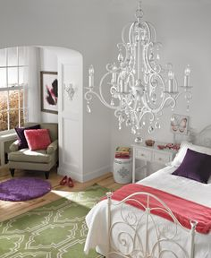 Chandeliers and sconces can light and dress up any space, instantly transforming the look into something magical.