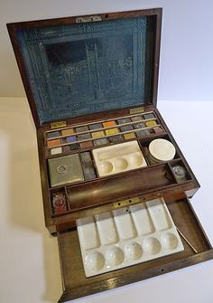 RARE Mother of Pearl Inlaid Rosewood Artist's Box J Newman's C 1830 | eBay
